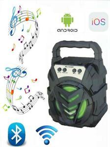 RADIO STEREO PORTATILE LETTORE MP3 FM SD CARD USB CASSA BLUETOOTH RICARICABILE