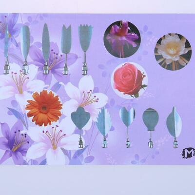 11pcs//lot 3D Gelatin Jelly Flower Mold Pudding Cake Decor Art Needles Tools