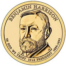 "2012-D Benjamin Harrison Presidential Dollar ""Brilliant Uncirculated"" US Coin"