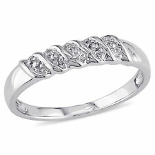 Amour Sterling Silver Diamond Illusion Ladies Wedding Band
