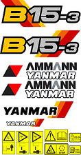 YANMAR B15-3 BAGGER-AUFKLEBER-SATZ
