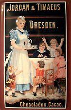 Jordan & Timaeus Dresden Blechschild Schild Blech Metall Tin Sign 20 x 30 cm