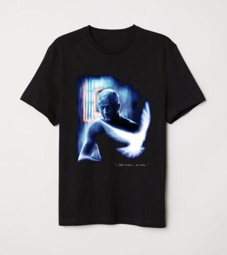 Blade Runner Rutger Hauer Roy Batty Like Tear In Rain Epic Scene Black T-shirt