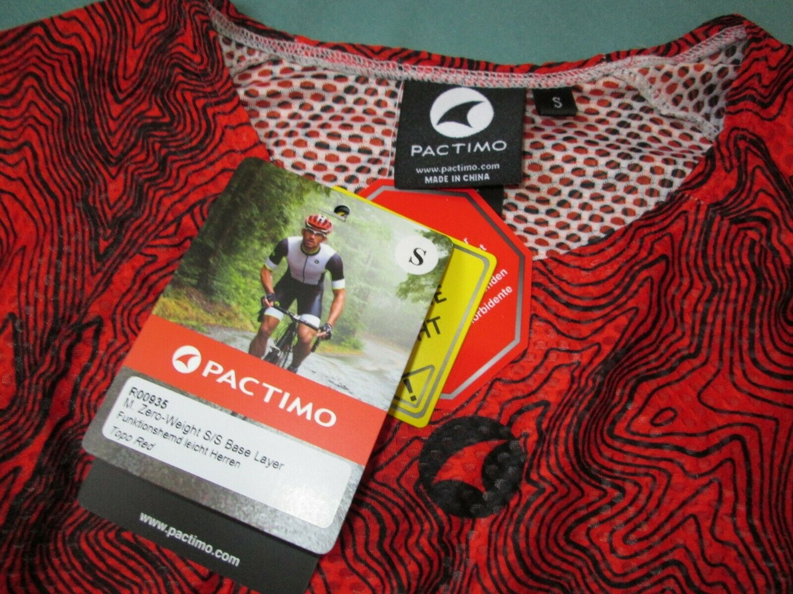 Size S Mens  Pactimo Zero-Weight Summer Topo-Red Short Sleeve Baselayer   Stratos  discount promotions