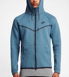 1cee6c69f92 Nike Air Tech Fleece Windrunner Smokey Blue Hoodie Men's Size S-3XL ...