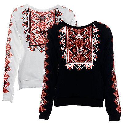 Fashion Women Hoodies Sportwear Snowflake Printed Sweatshirt Pullover Tracksuits