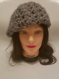 Image is loading DOROTHY-PERKINS-Womens-Grey-Chunky-Knit-Beret-Floppy- 60619cd5453