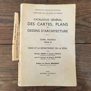 Catalogue Général Delle Schede Piani Disegni Architettura T1 Serie Parigi Seine