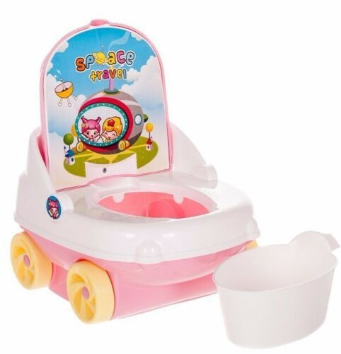 KID BABY TOILET SEAT CAR PINK TODDLER TRAINING POTTY TRAINER SAFETY CHAIR URINAL