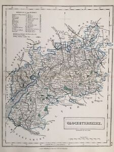 Map Of England Gloucestershire.1875 Antique Map Gloucestershire From Hall S Travelling Atlas Of