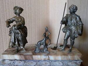 """""""le Temps Des Moissons"""" Statue/sculpture 19ème"""