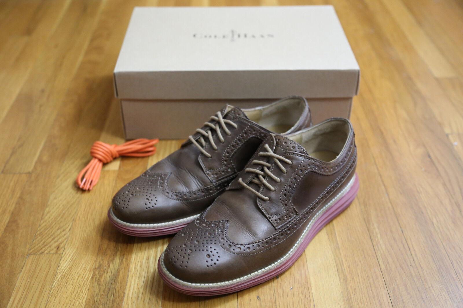 NicE  COLE Haan LUNARGRAND Wingtip TAN Brown 7.5 HORWEEN shoes Milkshake OXFORDS