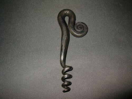 Handgeschmiedeter  Korkenzieher  Kellner Ausstattung Bar Mittelalter Eisen 13 cm