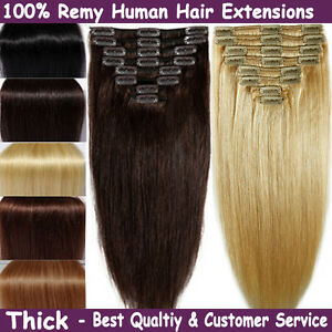 New real weft full head remy human hair extensions clip in black image is loading new real weft full head remy human hair pmusecretfo Image collections