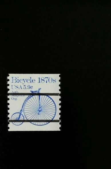 1982 5.9c Bicycle, Transportation Coil, Precancel Scott