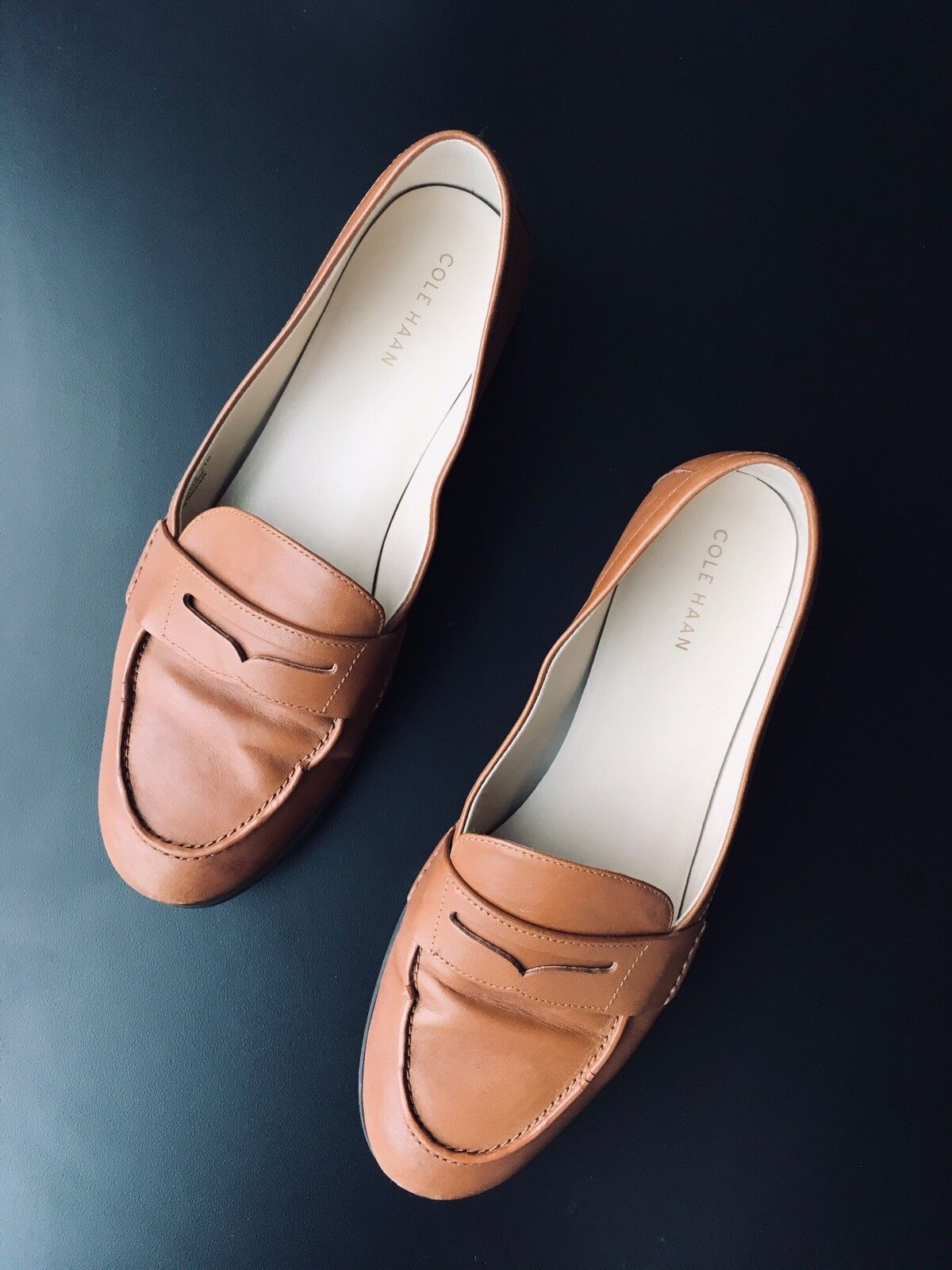 Cole Haan Wouomo Pinch Grand Penny Loafer Flat, British Tan Leather, 7.5 B US