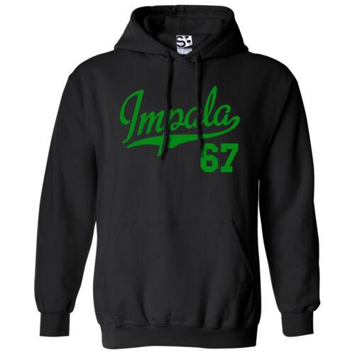 Hooded 1967 Lowrider Sweatshirt Impala 67 Script /& Tail HOODIE All Colors