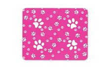 Pink Paw Prints Mouse Mat Pad Dog Cat Animal Mum Sister Gift Computer #13224