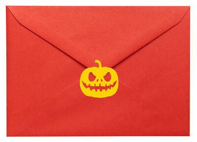 20 X Adesivi. Zucca Halloween, Jack 'o' Lantern. Craft, Scrapbook, Creazione Di Biglietti-
