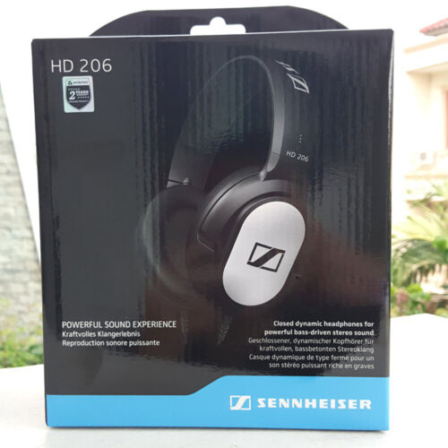 New Sennheiser HD 206 Over Ear Wired Closed Back Studio Earphones Headphones