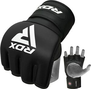 RDX MMA Gloves Grappling Leather Martial Arts Boxing Gloves Fight Thai DE