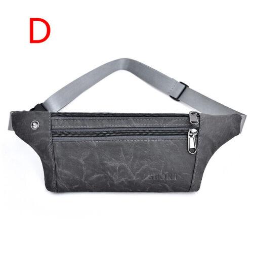 Men Retro PU Leather Waist Bag Fanny Pack Money Phone Bags High Capacity Casual