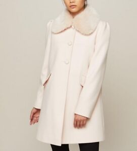 41edd9641578 Miss Selfridge Pink Princess Dolly Pea Winter Collar Coat 6 8 10 12 ...
