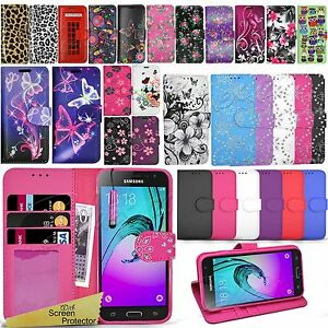 low priced 8f3a6 a69e9 Details about For Samsung Galaxy A3 2016 A310F - Flip Wallet Leather Case  Cover + Screen Guard