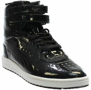 910ebec46e5 Image is loading Puma-Sky-II-High-Patent-Emboss-Sneakers-Black-