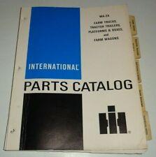 Ih International Farm Trucks Tractor Trailer Platform Boxes Wagon Parts Catalog