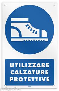 Cartello-vinile-4-fori-034-Obbligo-utilizzare-calzature-protettive-034-legge-626