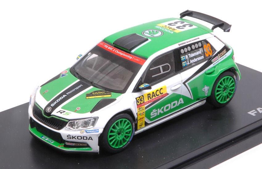 Skoda Fabia Iii R5  33 9th 9th 9th Rally Racc Catalunya 2016 Tidem.   Anders. 1 43 Model  | Qualität Produkte  ceb0d2