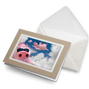 Greetings-Card-Biege-Funny-Flying-Pigs-Pink-Pig-15799