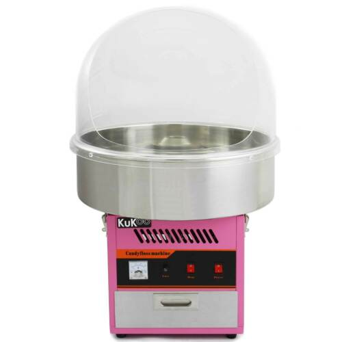 Rear Opening Acrylic Cotton Candy Maker Clear Bubble Candy Floss Machine Dome