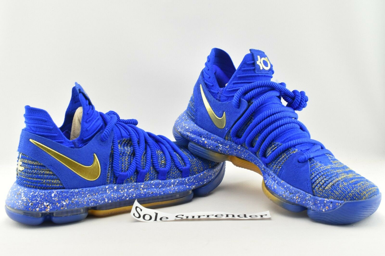 Nike Zoom KD 10 Finals MVP - SIZE 9.5 - 897815-403 Celebration PE Gold X Durant