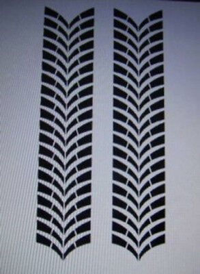 TIRE TRACK  STRIPE  #13 HOOD  RACING   VINYL GRAPHIC DECAL VEHICLE CAR  TRUCK