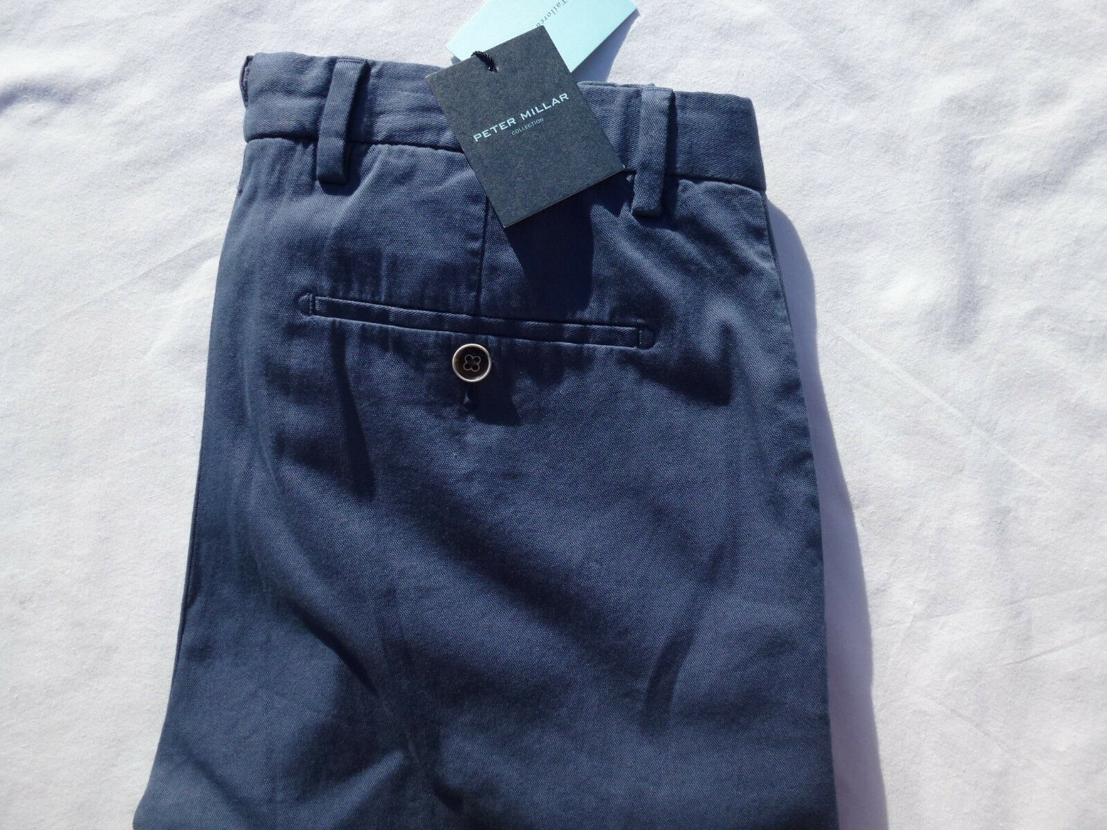 Peter Millar Men's Stretch Cotton Pants bluee Size 30 = 30x34 Tailored Fit