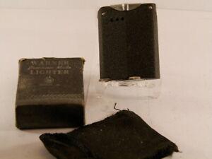 vintage-rarity-black-crackle-warner-USA-made-original-box-case-unused-working