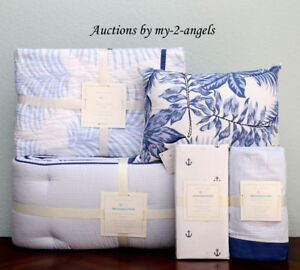 New Pottery Barn Kids Nantucket Palm Crib Quilt Baby