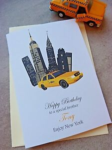 Image Is Loading Personalised Birthday Card New York City 16th 18th