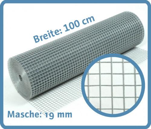 Volierendraht verzinkt 1.45 mm 19x19mm 20m Drahtgitter Schweißgitter Gitterzaun