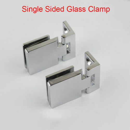 4PCS Glass Cabinet Hinges Jewelry Wine Display Cabinet Door Hinges Glass Clamps