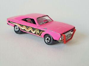 MATCHBOX-LESNEY-SUPERFAST-Dodge-Dragster-Vintage-1971-No70-Pink-GOOD-CONDITION