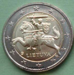 Litauen 2 Euro Münze 2015 Standard Kursmünze Euromünze Lithuania