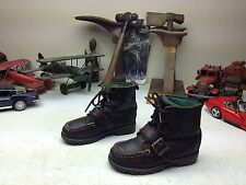 BROWN POLO RALPH LAUREN LEATHER LACE UP BABY BOY BOSS BOOTS 11