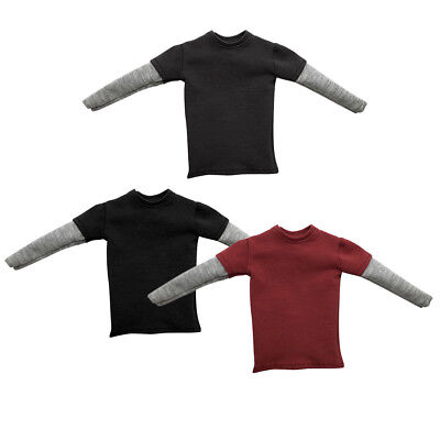 1//6 Male Body Accs Short//Long Sleeve T-Shirts for Sideshow Hot Toys 12/'/' Figures