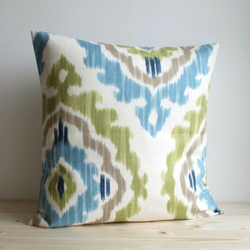 Made in UK #ITLU 100/% cotton Ikat cushion cover