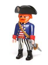 Playmobil Figure Custom Chubby Pirate Ship Captain w/ Hat Sword 3940 3286
