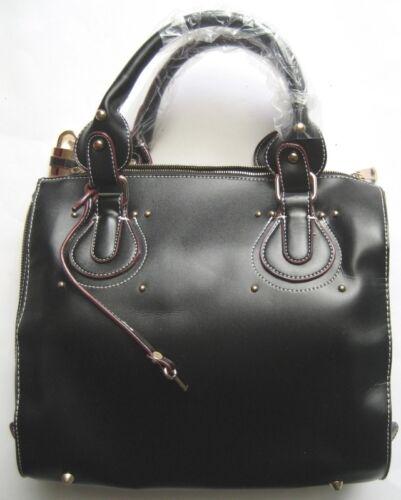 Moderne schoudertas handtas leer kleding zwart en modieuze Dames 6gYfy7bv