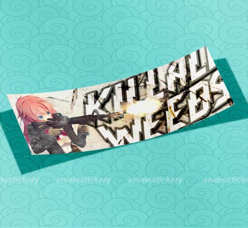 Anime Decor Vinyl Slap Sticker 001 Kill All Weebs